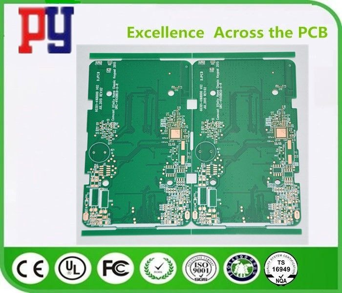Green Solder Mask Prototype Printed Circuit Board , Pcb Circuit Board Multilayer