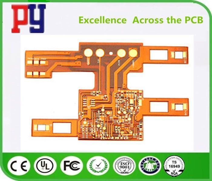 Single Layers PCB Printed Circuit Board Flexible 1OZ Double Side Polyimide Base Material