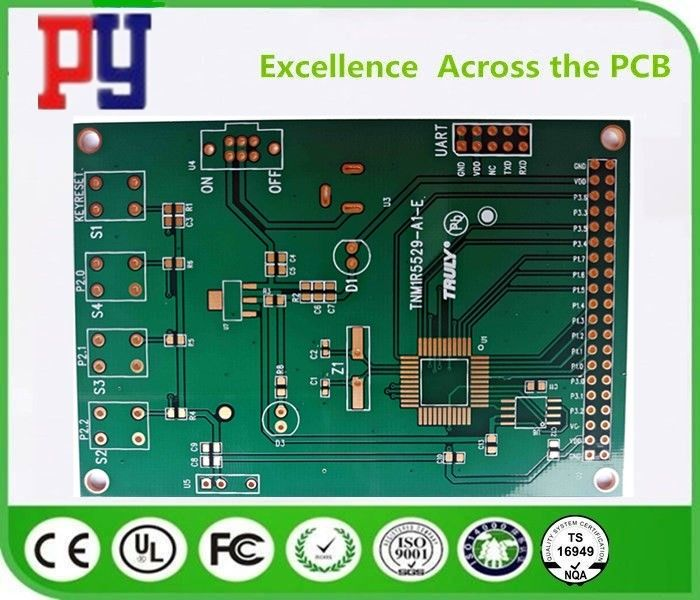 Fr4 Base Material Double Sided PCB Board 1.6MM Thickness Lead Free Surface Finishing