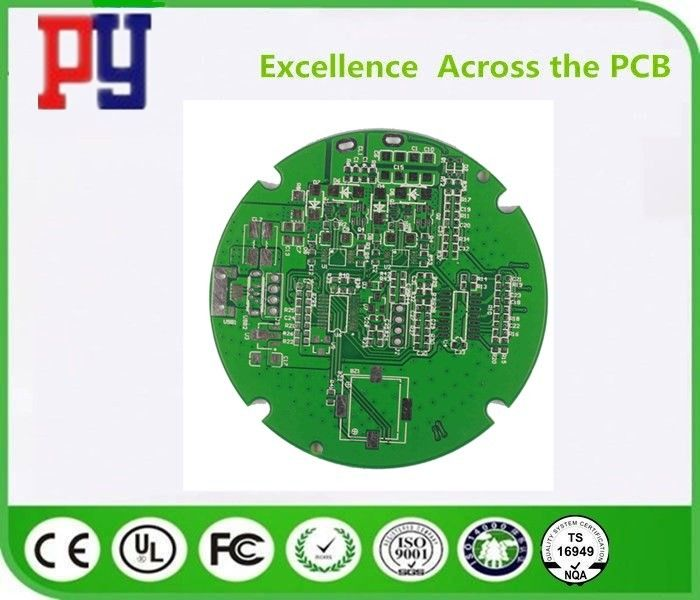 Round Shape Double Sided PCB Board Fr4 Base Material For Telecommunication Equipment