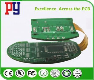 China Ouro rígido controlado da imersão do PWB 1.6mm das placas de circuito do cabo flexível da impedância Multilayer fábrica